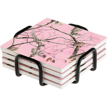 Thirstystone Drink Coasters Gift Set, Realtree AP HD Pink, HA72 (Pink Drink Coaster)