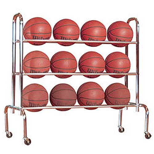 First Team Economy 12 Basketball Carrier Storage Rack