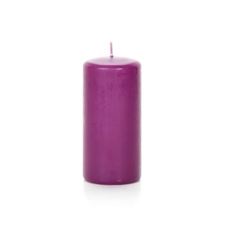 Pillar Candle - Purple - Lilac Scented - 2.8 x 5.8 inches