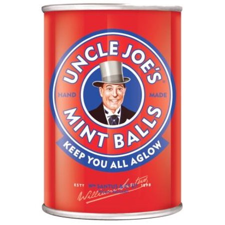 Uncle Joe Mint Balls in a Tin 120g. Pack of 3