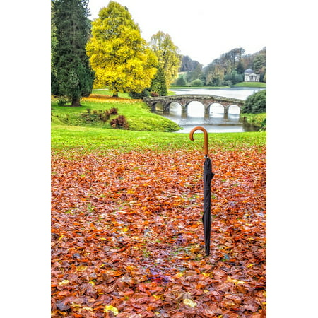 Canvas Print Uk Wiltshire Landscape Gardens Autumn Stourhead Stretched Canvas 10 x (Stourhead Gardens)