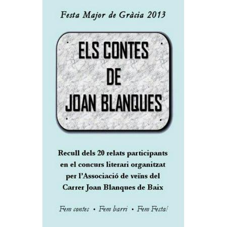 Els Contes De Joan Blanques  20 Relats Del Concurs Literari De 2013  Catalan