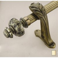 Palas 1072 Curtain Rod Set 125 In Flash Gold 94 In