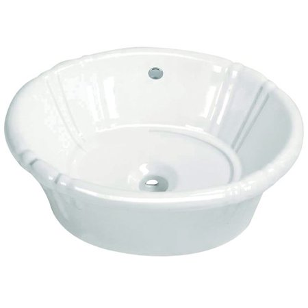 Kingston Brass Vintage Vitreous China Oval Drop-In Bathroom Sink with Overflow
