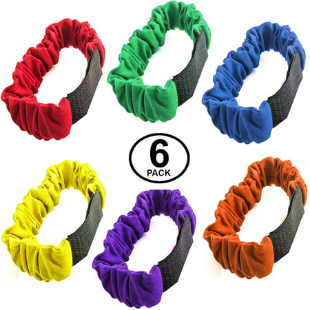 Funny Party Hats New 3 Legged Race Bands - 6pc Per Pack- Carnival Field Day Backyard Relay Game - Carnival Supplies
