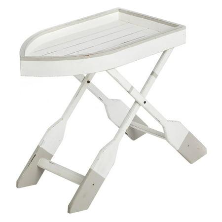 Evergreen Enterprises Boat Side Table with Oar Shaped Legs