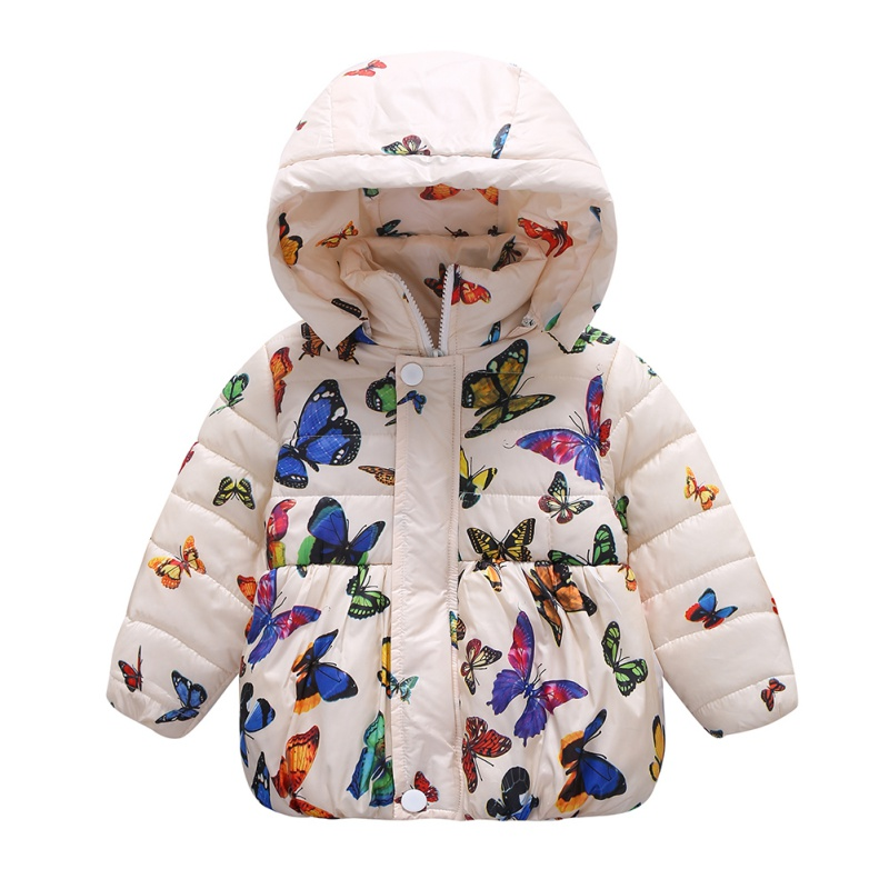Toddler Baby Girl Print Hooded Coat Outerwear Hoodie Jackets Warm Winter Clothes