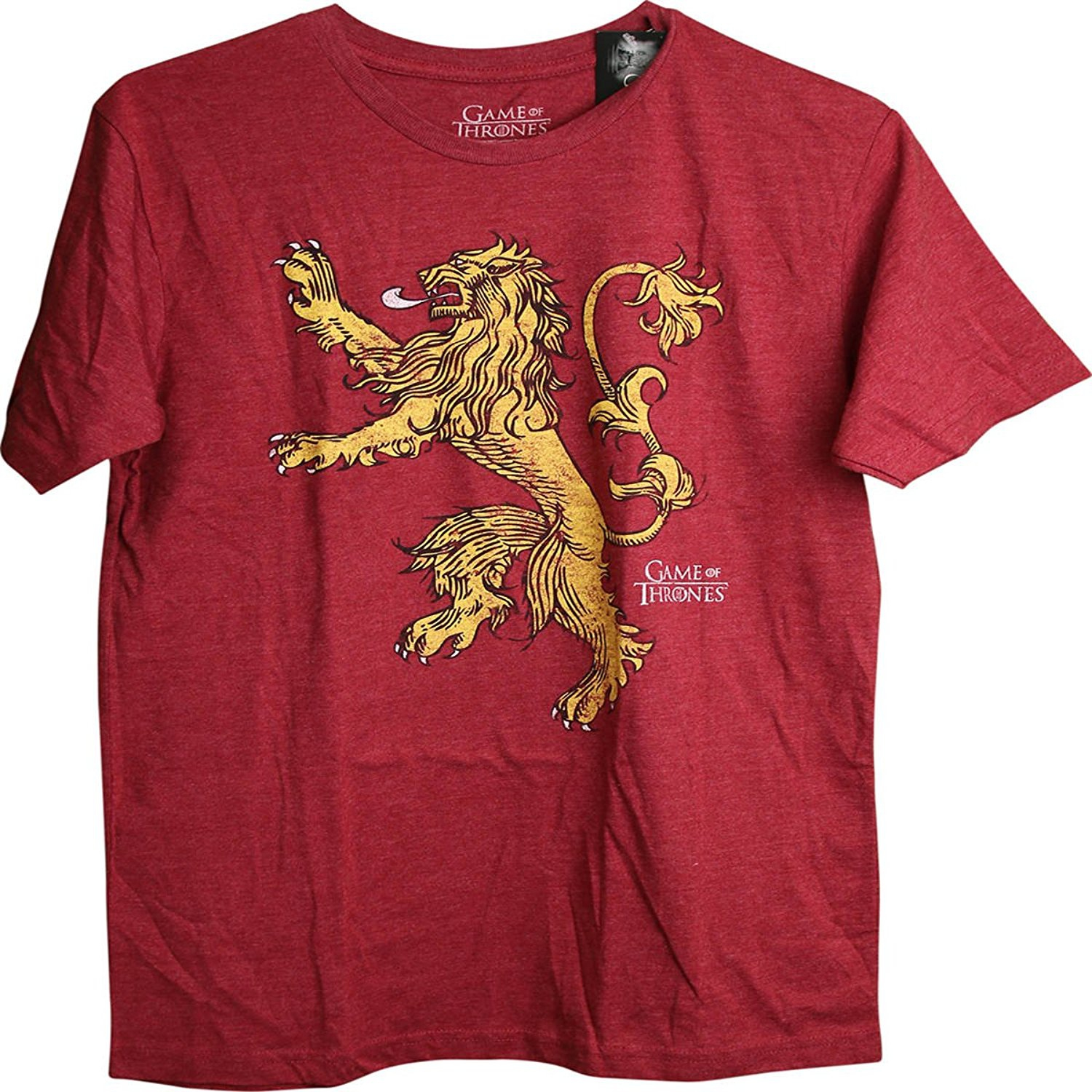 Game of Thrones Distressed Logo House Lannister Adult T-Shirt Small