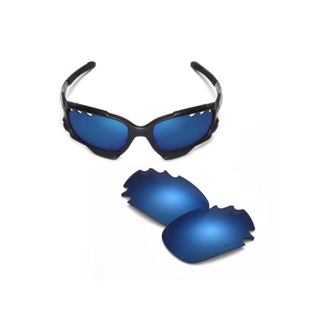 631d1421244 Walleva - Walleva Ice Blue Mr. Shield Polarized Vented Replacement Lenses  for Oakley Jawbone Sunglasses - Walmart.com