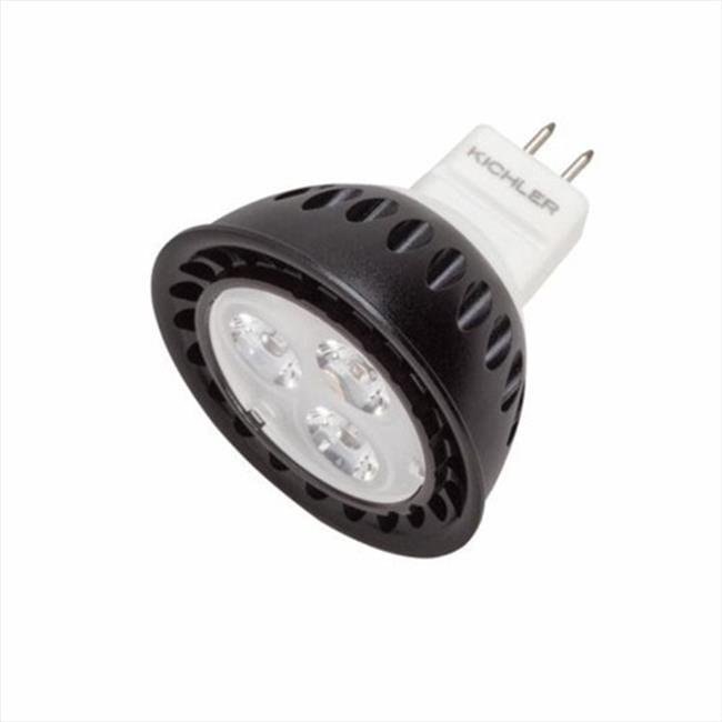Kichler Landscape 18005 Landscape LED MR16 Bi-Pin 4 Watt 12 Volt 25 Degree Wide Spot 4200K Bulb in Clear - Pack of 4