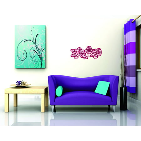 Top Selling Decals   Prices Reduced Xoxo Childrens Hugs Kisses Love Removable Vinyl Wall Bedroom Sticker   10 X 30