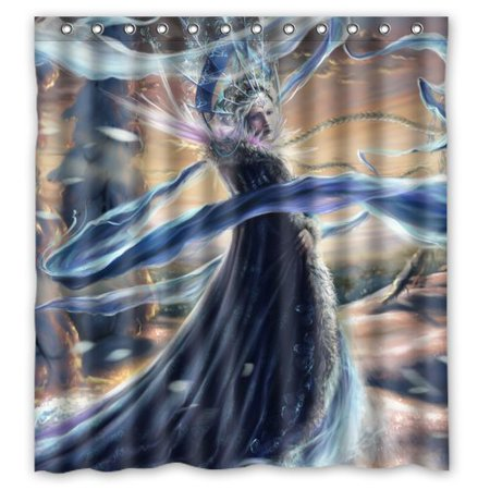 DEYOU Anime Frozen Princes Shower Curtain Polyester Fabric Bathroom Shower Curtain Size 60x72 inches