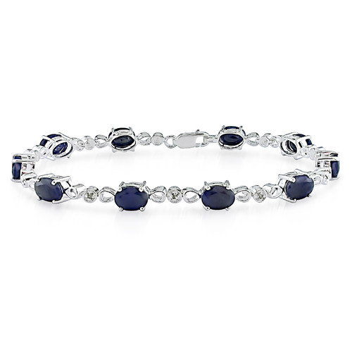 Amour Round Cut Sapphire Bracelet