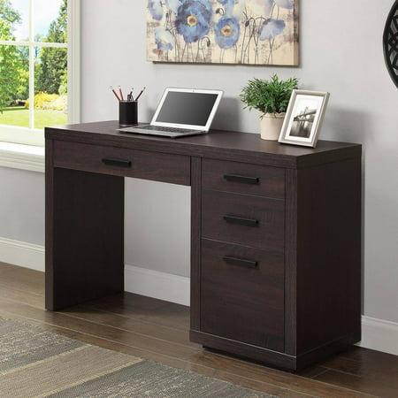better homes gardens steele writing desk espresso finish. Black Bedroom Furniture Sets. Home Design Ideas