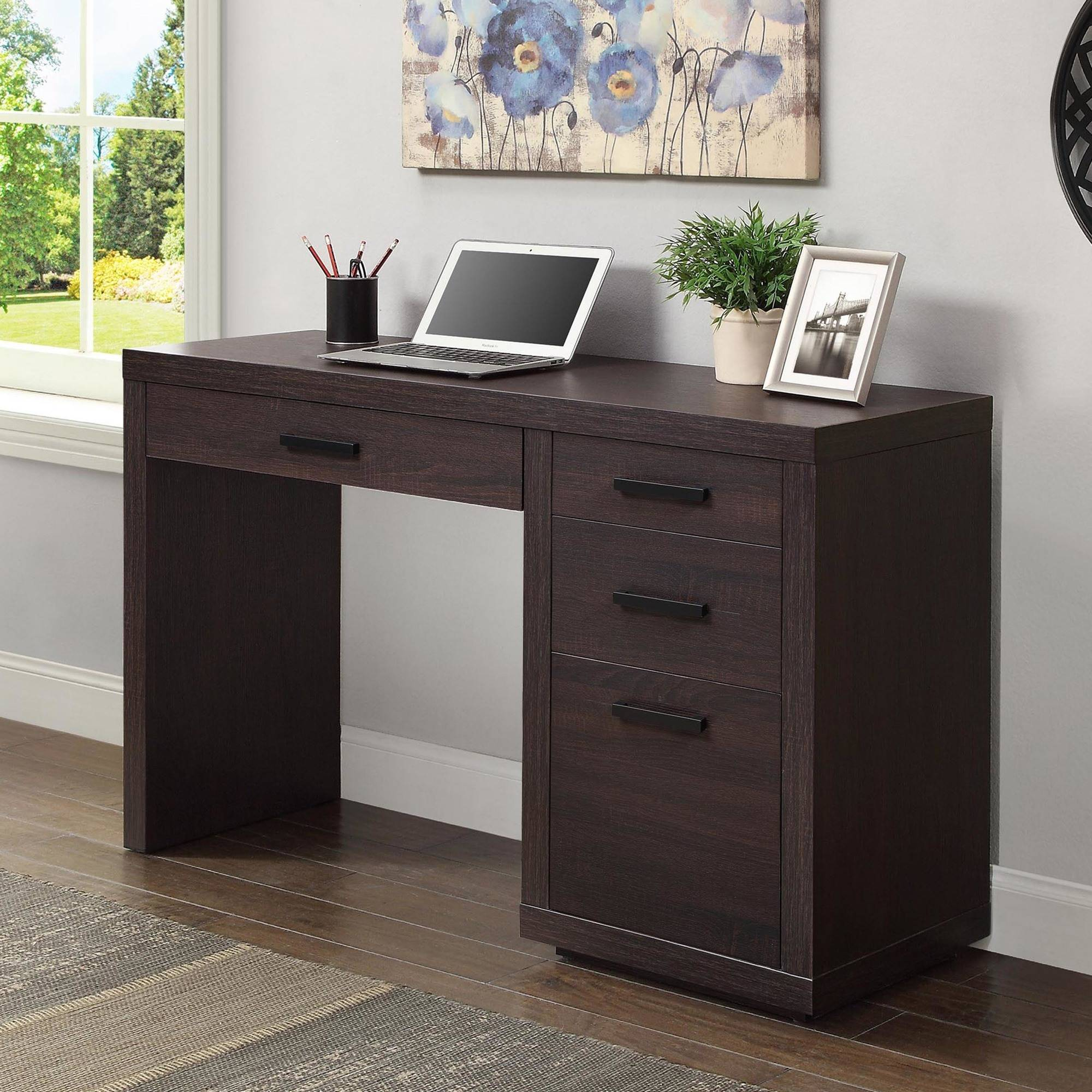 Better Homes U0026 Gardens Steele Writing Desk, Espresso Finish