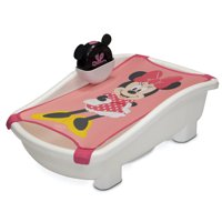 Disney Minnie Mouse My First Bubble Bath by Delta Children3-in-1 Newborn to Toddler Bathtub with Sling and Bubble Blower