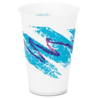 Dart R7N-00055 Jazz Waxed Paper Cold Cups, 7oz, Tide Design, 100/pack, 20 Packs/carton