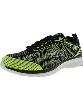 f56247655e47 Product Image Fila Men s Speedweave Run Ii Neon Green   Black Ankle-High  Running Shoe - 10.5