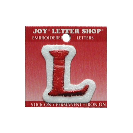 "Joy Applique Letter Iron On Cooper 1.5"" Red L"