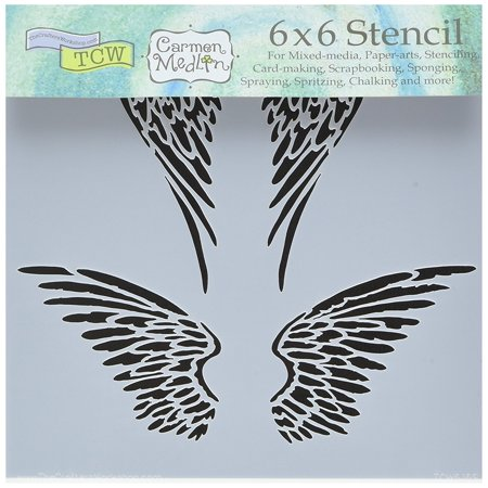 - Bible Journaling Stencil - Angel Wings (6