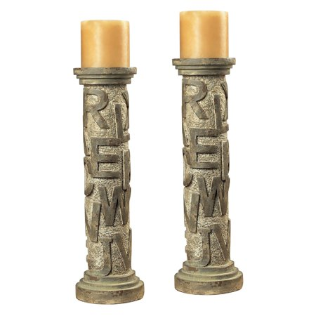 Sterling Alphabet Table Candle Holders - Alphabet Candles