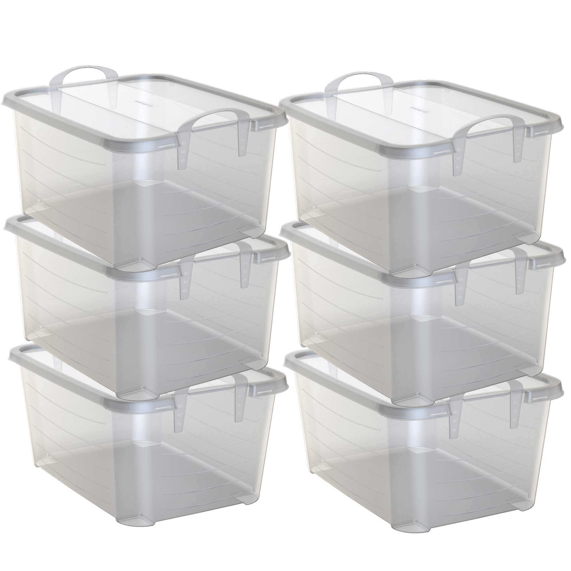 Life Story Clear Stackable Closet & Storage Box 55 Quart Containers, (6 Pack)