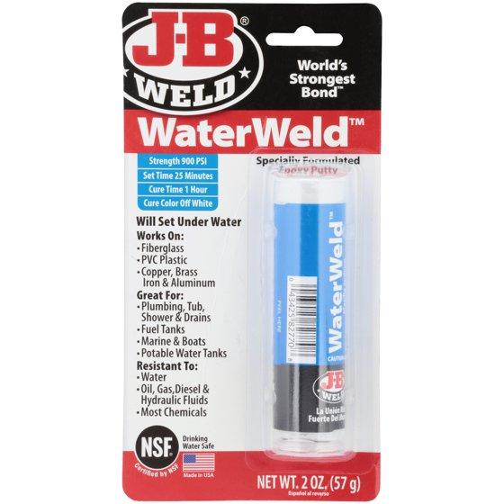 J B Weld 8277 Epoxy Adhesive Underwater 2 Oz Stick Walmart