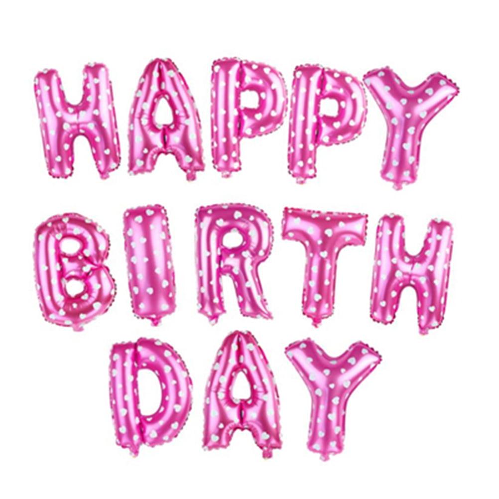 Alphabet Letters Balloons Happy Birthday Party Decoration Mylar Foil ...