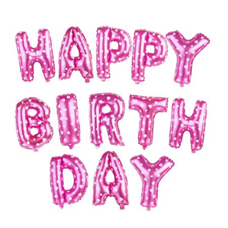 Alphabet Letters Balloons Happy Birthday Party Decoration Mylar Foil Letter Balloons (Pink) - Alphabet Balloons Party City