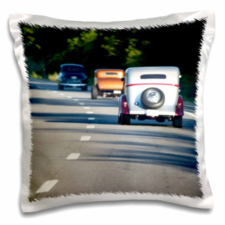 3dRose Maine. Classic cars traveling on highway - US20 BJA00