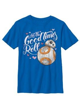 Star Wars The Force Awakens Boys' Valentine BB-8 Good Times Roll T-Shirt