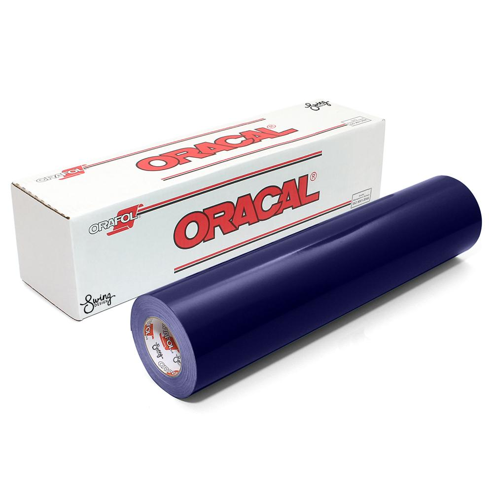 oracal 651 glossy vinyl roll 2 sizes available - steel blue