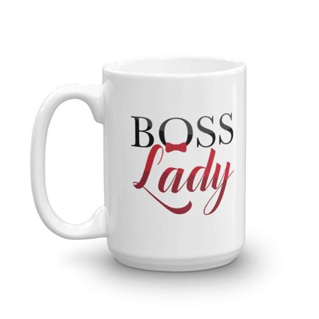 Boss Lady Print Ceramic Coffee Tea Gift Mug Cup Drinkware