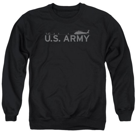 - Army U.S. Helicopter & Soldiers Horizon Shadow Adult Crewneck Sweatshirt