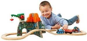 Fisher Price Thomas Wooden Railway Set, Volcano Park Deluxe by Fisher-Price Thomas