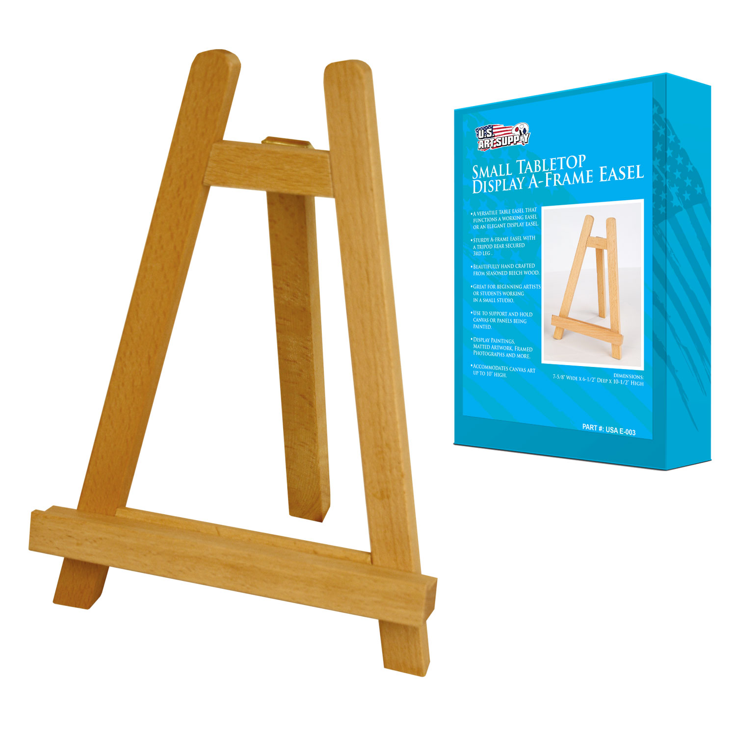US Art Supply® CARMEL Small Tabletop Display A-Frame Easel Painting