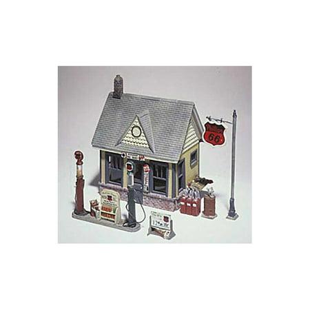 - Woodland Scenics D223 Phillips 66 Metal Cast Gas Station Kit HO WOOD223