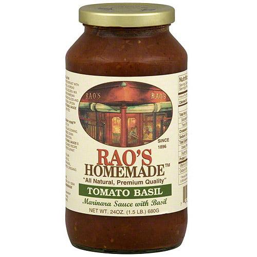 Rao's Homemade Tomato Basil Marinara Sauce, 24 oz (Pack of 6)