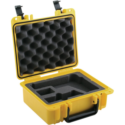 Seahorse SE-300 Hurricane Series Handgun Case with 4-Piece Pistol Foam Set (Yellow)