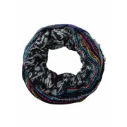 Collection Eighteen Women's Sequined Multi Patterned Infinity Scarf