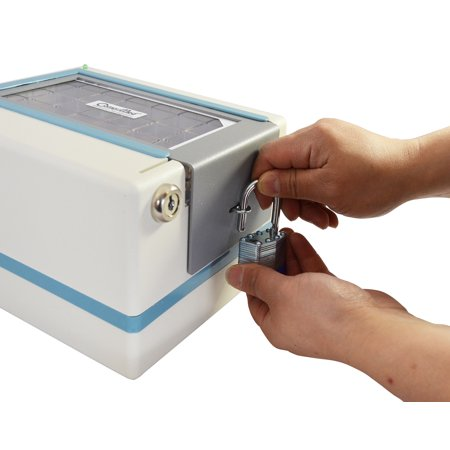 e-pill CompuMed PLUS Tamper Resistant Automatic Pill Dispenser with Security Lid and Padlock. Pain Medication Pill Dispenser