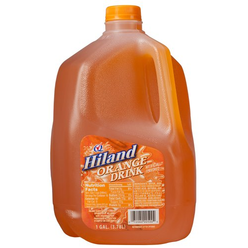 Hiland Orange Drink, 1 Gallon