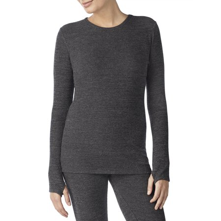 Womens Long Sleeve Brushed Sweater Knit Crew Neck Top