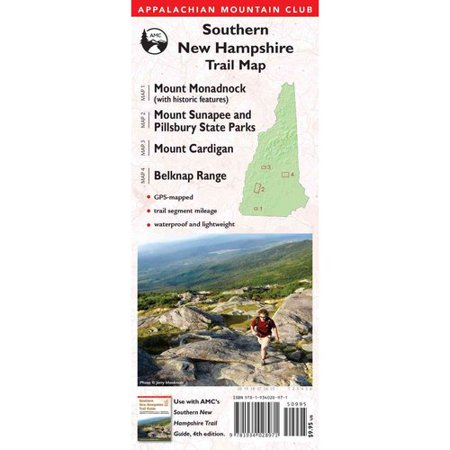 Appalachian Mountain Club Southern New Hampshire Trail Map: Mount Monadnock (With Historic Features)   Mount... by