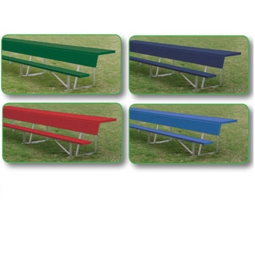 Outdoor Players Bench with Shelf by Alumagoal - 15'