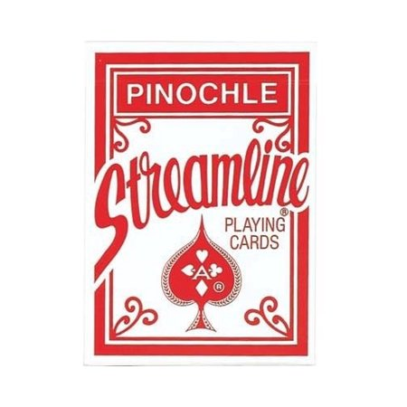 Streamline Pinochle Standard Index Playing Cards - 1 Sealed Red Deck