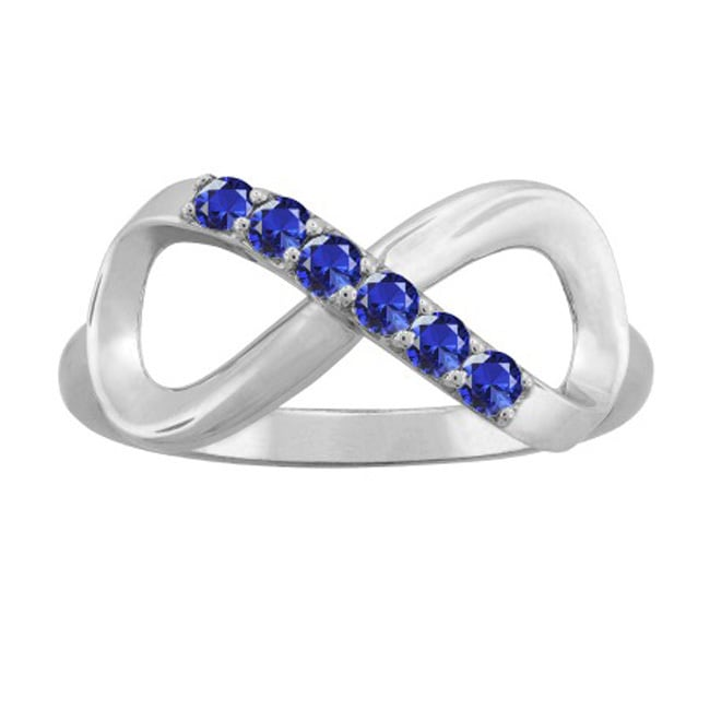 Palomar 10K White Gold Round-Cut 5-Stone Infinity Mothers Ring