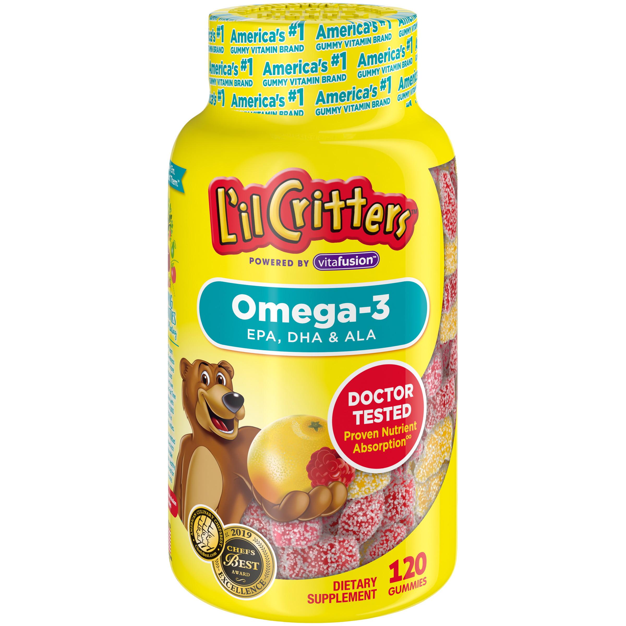 L Il Critters Gummy Omega 3 Dha 120 Count Walmart Com Walmart Com