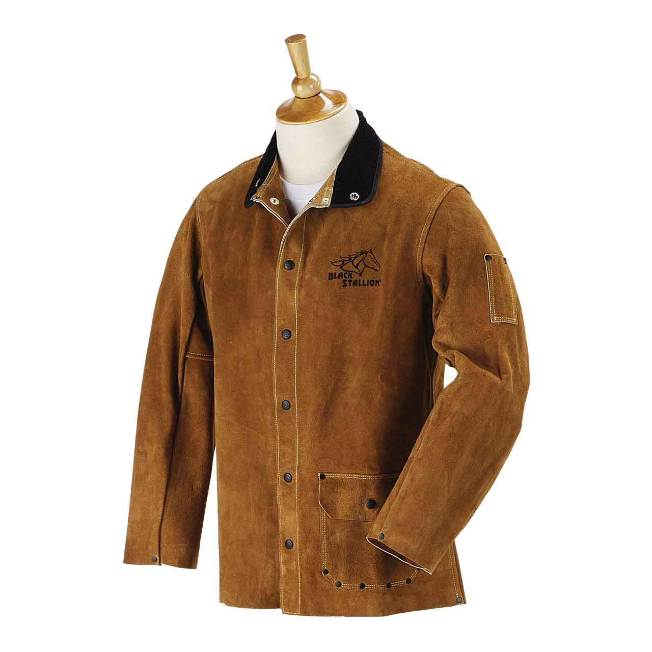 "Black Stallion 30WC 30"" Quality Side Split Cowhide Welding Jacket, Large"
