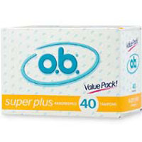 O.B. Tampons Super Plus Absorbency - 40 Ea